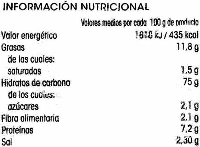 Alipenditos - Información nutricional
