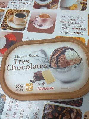 Helado tres chocolates