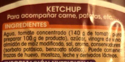 Ketchup - Ingredientes