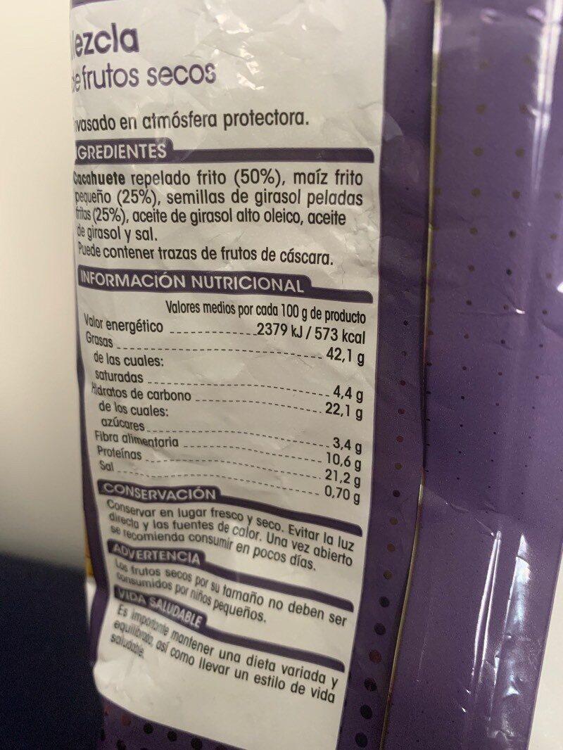 Mix Picoteo - Informació nutricional