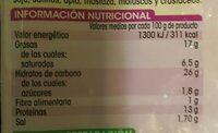Fingers de Mozarella - Nutrition facts