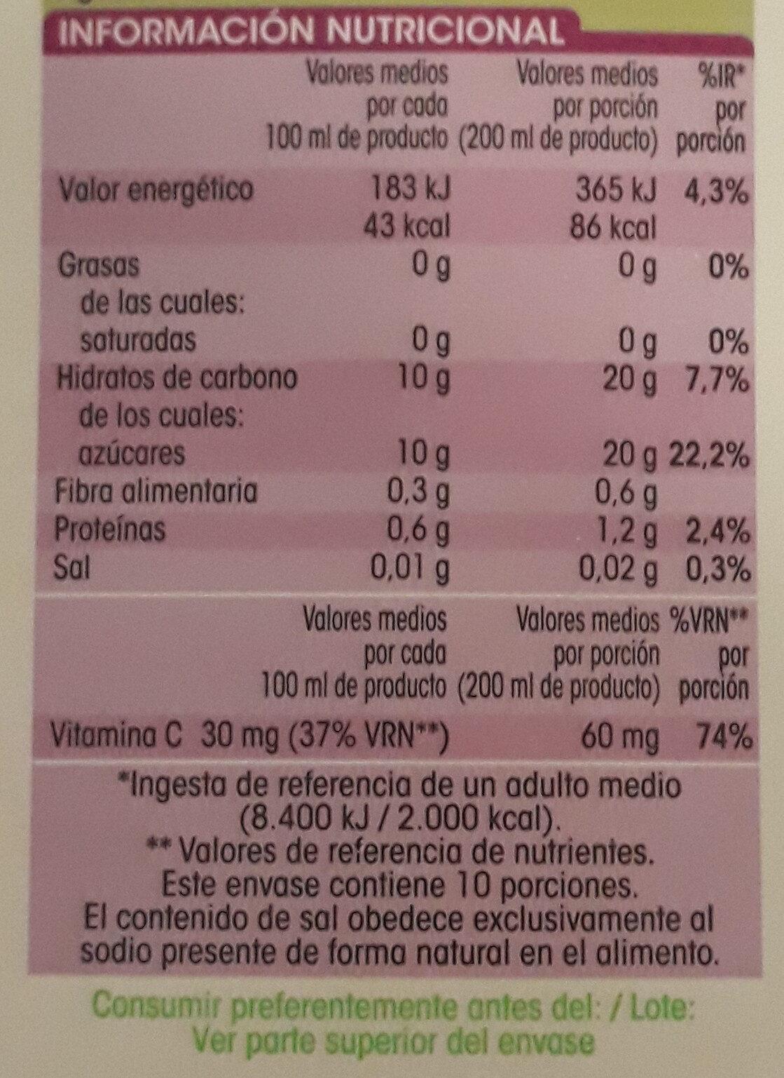 Naranja 100 % exprimida - Voedingswaarden
