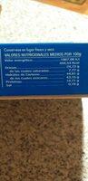 Tarta de almendra - Informations nutritionnelles - es