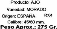 Ajos morados - Ingredientes