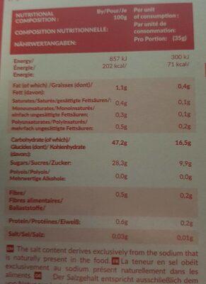 Wao mochi ice cream mango - Nutrition facts