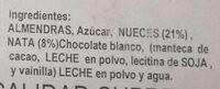 Turrón Nata Nueces - Ingredientes - es