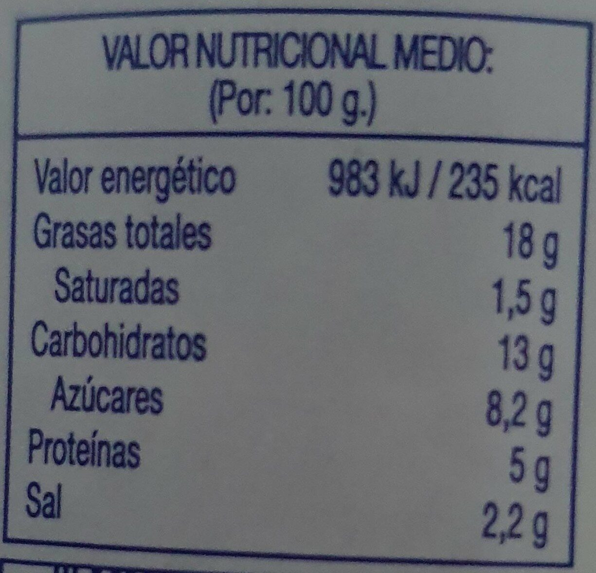 Arlequinitos - Informations nutritionnelles - fr