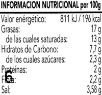 Salsa Mojo Picon - Nutrition facts