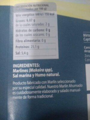 Marlin ahumado - Ingredientes - es