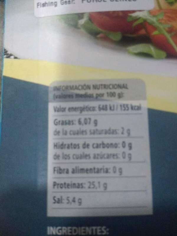 Marlin ahumado - Información nutricional - es