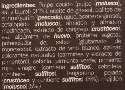 Salpicón de Marisco - Ingredients