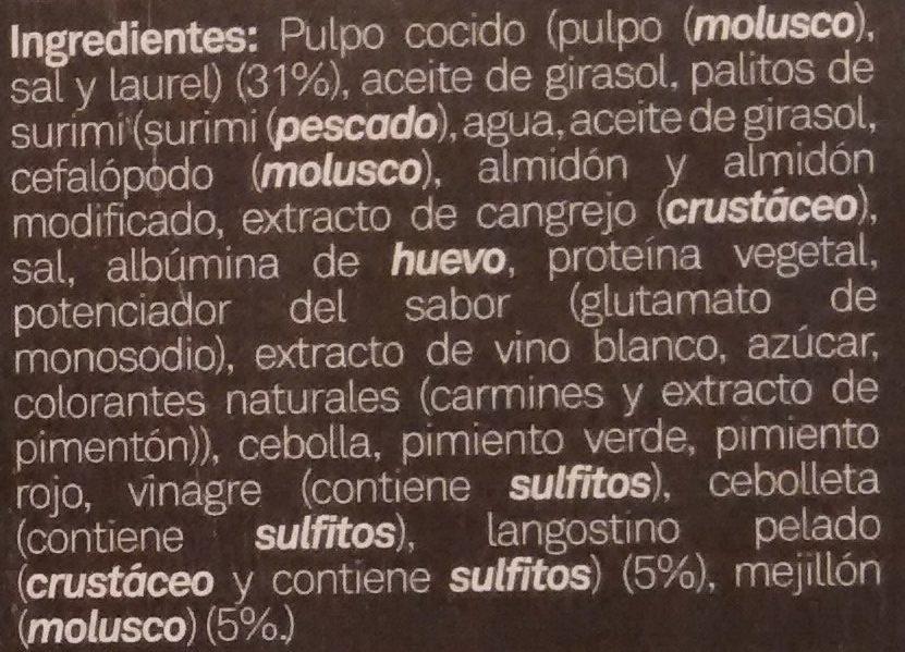 Salpicón de marisco - Ingredients - es
