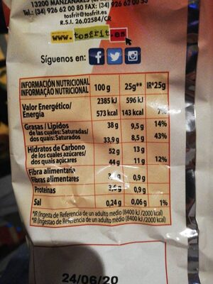 Caprichocos - Nutrition facts