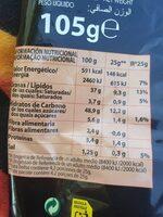 Manos Locas - Nutrition facts - es