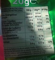 Apetinas de patata - Nutrition facts - fr