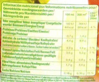 Gazpacho Original - Información nutricional