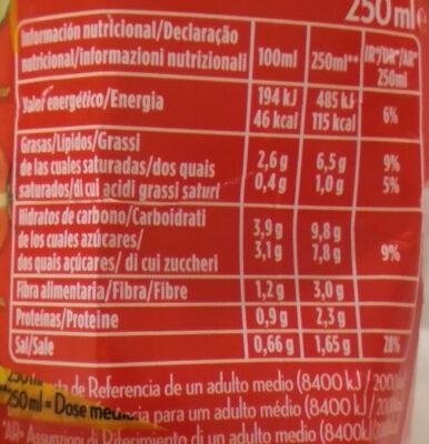 Alvalle Gazpacho Original 250ML - Información nutricional - fr