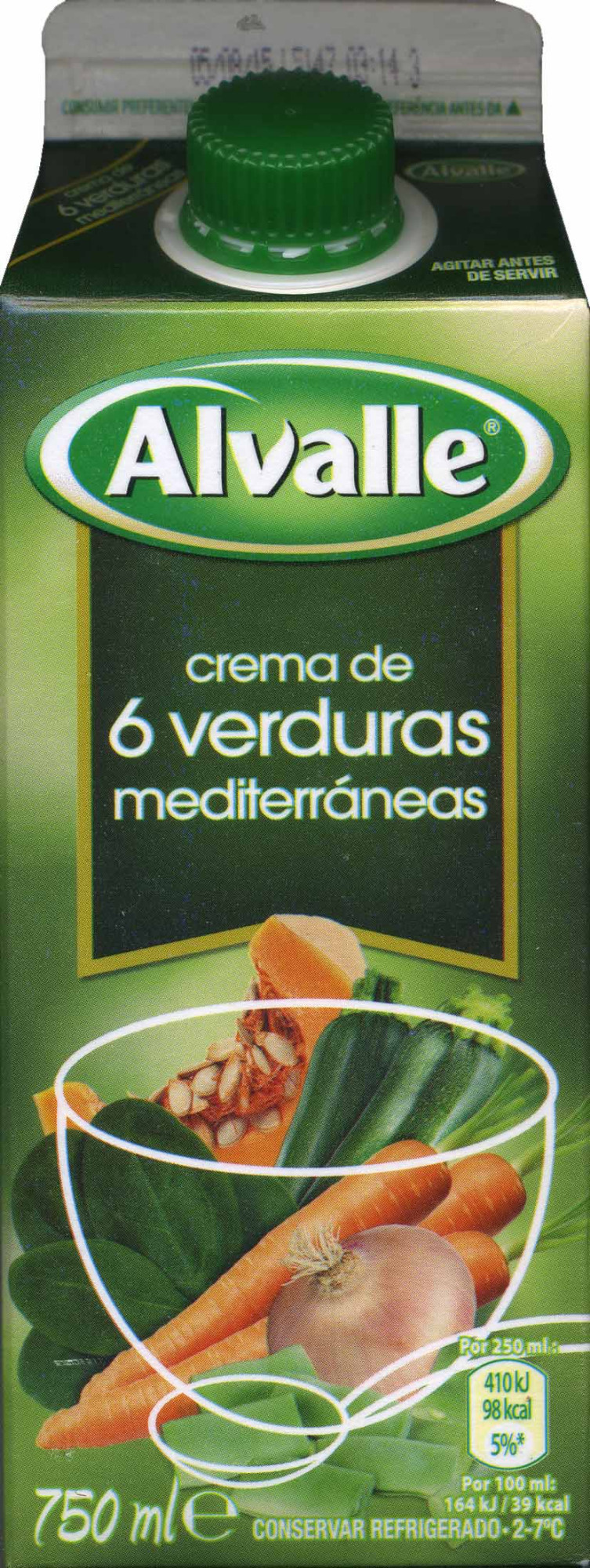 Crema de 6 verduras mediterráneas - Producto - es