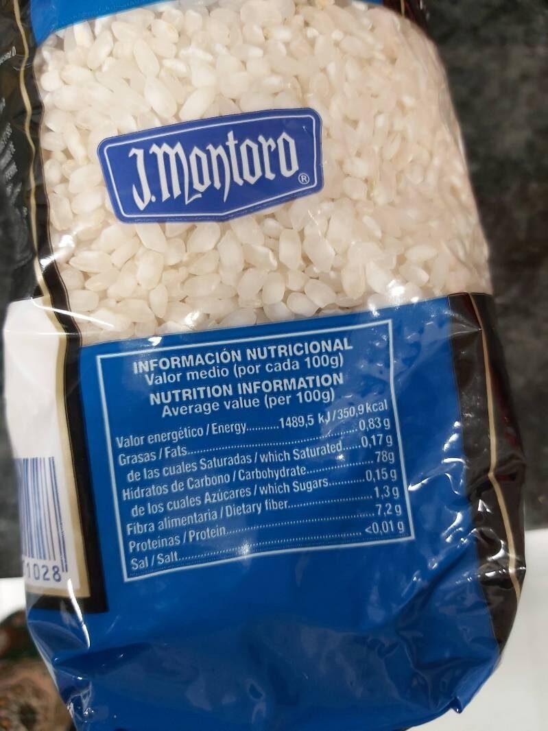 Arroz - Informació nutricional