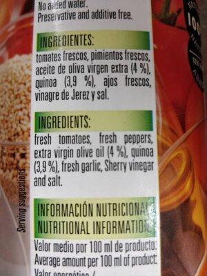 Salmorejo con quinoa - Ingredientes - es
