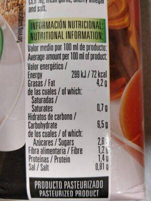 Salmorejo con quinoa - Información nutricional - es