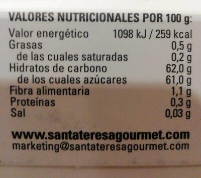 Mermelada albaricoque - Voedingswaarden - es