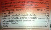 Lafuente Crema Emmental - Ingredientes