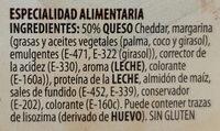 Lonchas con Queso Cheddar - Ingrédients
