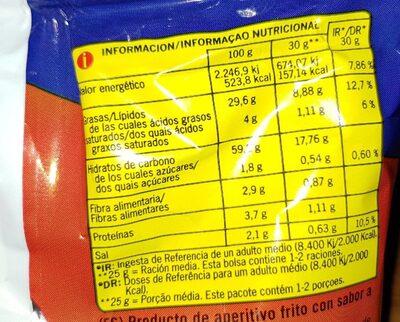 Conchitas jamón - Información nutricional