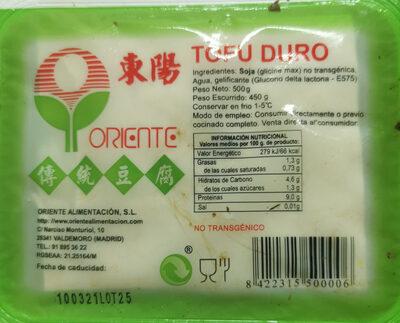 Tofu Duro - Prodotto - es