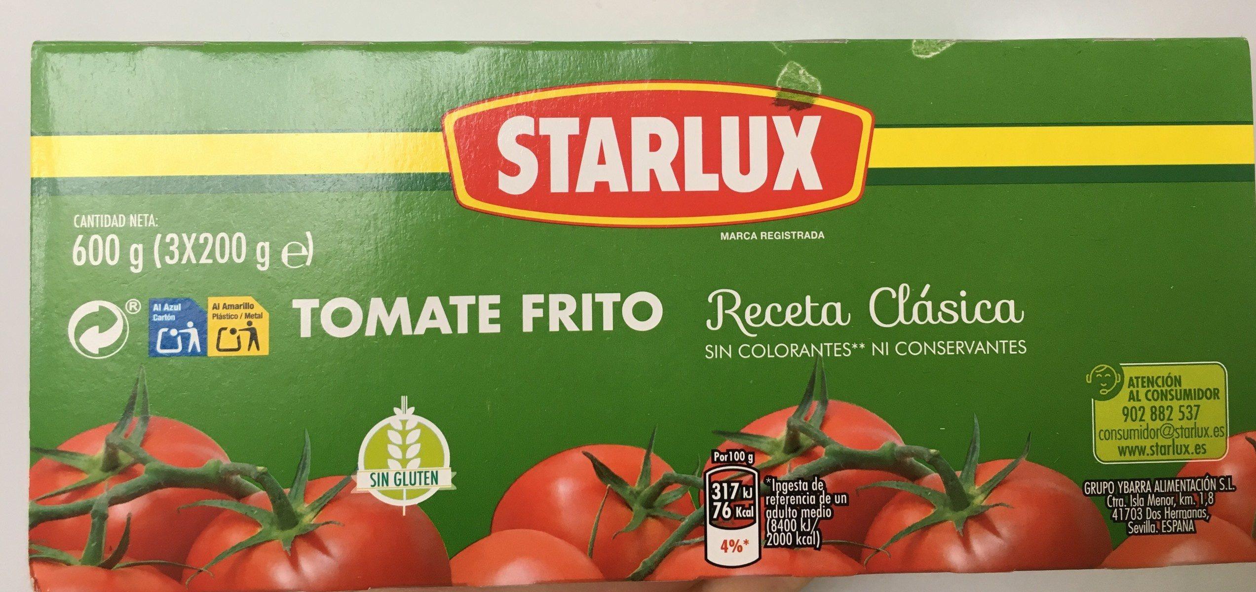 Tomate Frito Starlux 200G - Ingredientes