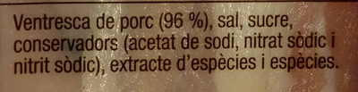 Cansalada viada curada - Ingredientes - ca