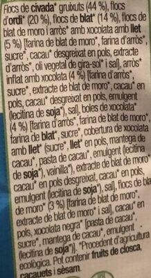 Musli Xocolata amb llet - Ingredients - ca