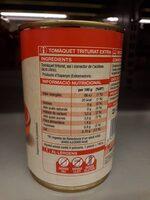 Tomàquet triturat extra - Nutrition facts