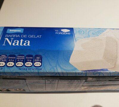 Barra de helado de nata - Product - es