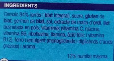 Cuida't flocs d'arros i blat integral - Ingrediënten - ca
