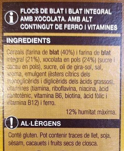 Flocs de xoco - Ingredients