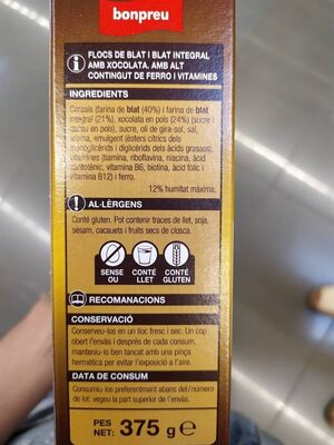 Flocs de xoco - Ingredientes