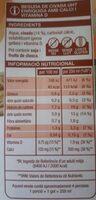 Beguda de civada - Informació nutricional - ca