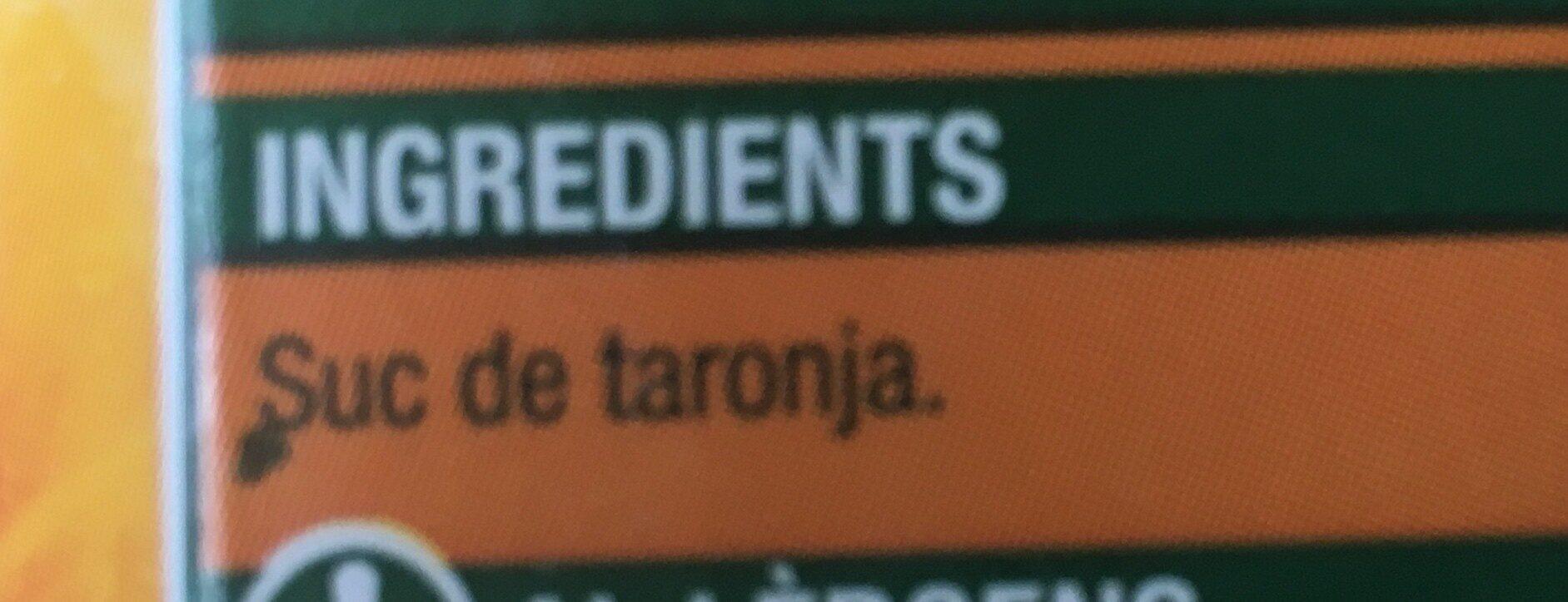 Suc de taronja - Ingredientes - es