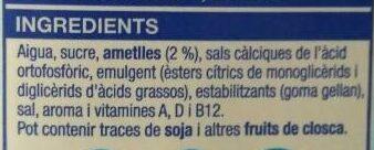 Beguda d'ametlles - Ingredients