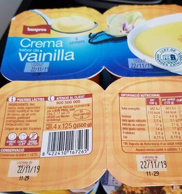 Crema sabor de vainilla - Product - ca