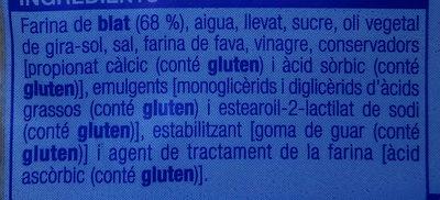 Pa de motlle bon preu - Ingredientes