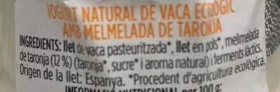 iogurt natural amb taronja - Ingredients