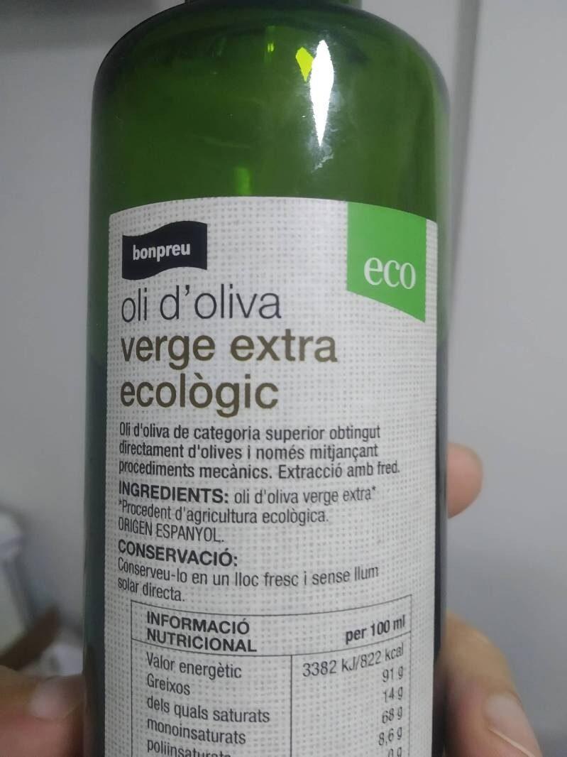 Oli Oliva Verge Extra Eco - Ingredients - es