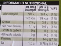 Tonyina clara - Informations nutritionnelles