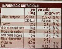 Lazos con cereal - Voedingswaarden - es