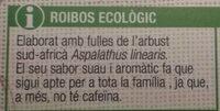 Roibos - Información nutricional - es