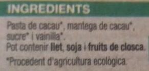 Xocolata negra 99% - Ingredients