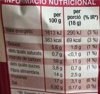 Pa Torrat Integral - Voedingswaarden - es